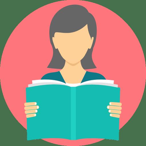 Personne qui lit un livre